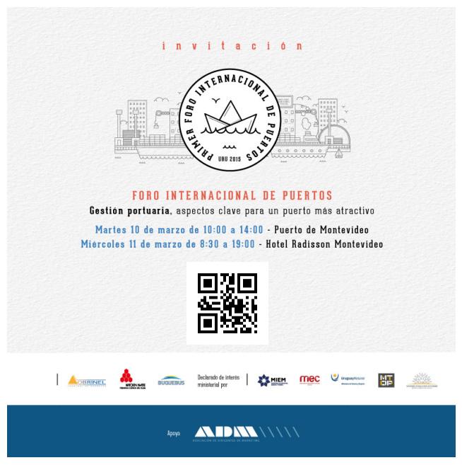 Utilaje presente el primer Foro Internacional de Puertos en Montevideo